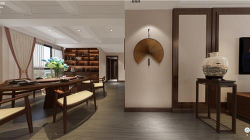 【久烁丨2019设计案例】玫瑰郡6栋 130平 新中式风格