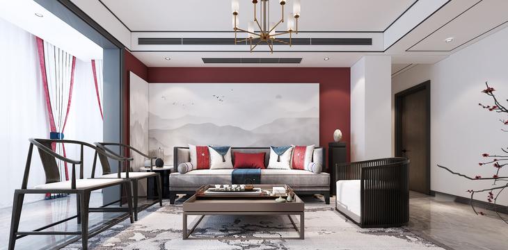 融盛官邸 117㎡ 新中式风格